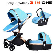 Baby Stroller 2016 Hot Mom 3 in 1 travel system and Bassinet Combo PU Pushchair