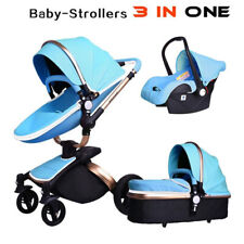 Baby Stroller 2017 Hot Mom 3 in 1 travel system and Bassinet Combo PU Pushchair