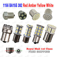 1156 White Red Amber Yellow BA15S P21W LED Car Tail Brake Signal Light Bulb 382