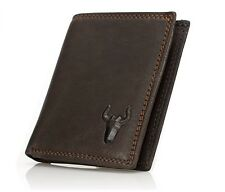 Men's Fashion Handmade Genuine Cow Hide Leather Bifold Wallet Credit Card ID