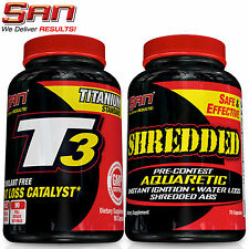 T3 & Shredded - 3 Variations Thyroid Hormone Booster + Diuretic Pre-Contest