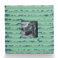 Recycled Metal Corrugated Frame Turquoise - Foreside 77767
