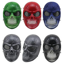 Skull Skeleton Full Face Mask Tactical Airsoft Valor Paintball Protect Safety CS