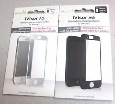 New Lot of 10 moshi iVisor AG Screen Protector for iPhone 5/5s- Black/White