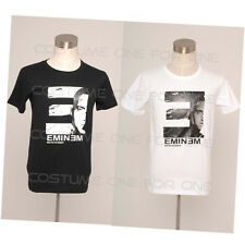New Eminem Logo Hip Hop Cotton Slim Fit Costume Short Sleeves T-shirt
