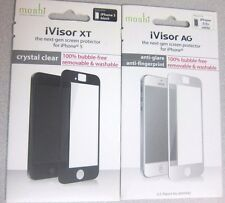 New Moshi iVisor AG Screen Protector for iPhone 5/5s/5c - White/Black