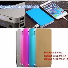 10000/1500/5000mAh 2 USB External Battery Power Bank Pack Charger Phone Lot KG