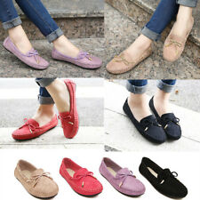 New Fashion Women Comfort Flats Suede Shoes Walking Loafers Casual Ballet Shoes
