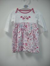 BNWT Pretty Marks and Spencers Dress with Matching Tights.  Age 0-6 Months