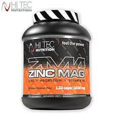 ZMA ZINC MAG 120-240Caps Testosterone Booster Hormone Support Sleep Aid Recovery