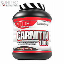 Carnitin 1000 60-180Caps Non-Stimulant Weight Loss Slimming Fat Burner Reduction