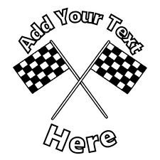 0095CFG Checkered Flag Personalised  cake topper, wafer/Icing, Pre cut/ uncut