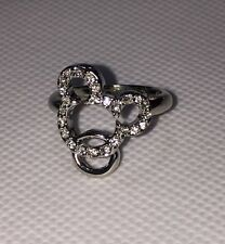 Genuine Disney Mickey Mouse Diamante Disney Marked Ring Crystal Size 5,7,8,9 New