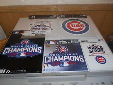 (5) Chicago Cubs 2016 WORLD SERIES CHAMPIONS Die Cut Magnet  & Decal StaticCLING