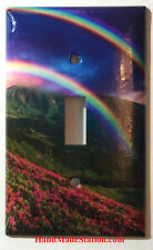 Double Rainbow Sky Art Light Switch Power Outlet Duplex Cover Plate Home Decor