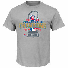 Men's Chicago Cubs Majestic Gray 2016 World Series Champions Locker Room T-Shirt