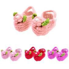 Warm Baby Newborn Infant Girl Cotton Crochet Knit Crib Shoes Prewalker 2-18Month