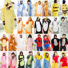 Adult Kids Onesies Kigurumi Pajamas Animal Costume Cosplay Fancy Dress Sleepwear