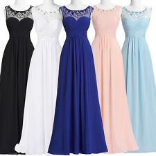 Cheap Chiffon Long Bridesmaid Evening Prom Party Cocktail Gown Formal Prom Dress