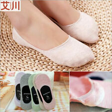 Women Loafer Boat Invisible No Show Nonslip Liner Low Cut Ankle Cotton Socks