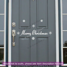 Christmas Door Vinyl Wall Sticker snowflake Xmas Shop Window Sign Decor Decal
