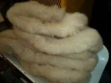 White Washed Texel Short staple Wool Roving 8 oz each, READY TO USE