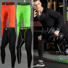 Mens Sports Apparel Skin Tights Compression Base Under Layer Long Pants Trousers