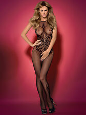 Erotic Mesh Bodystocking Pattern Catsuit Sexy Lingerie Crotchless Fetish S-XXL