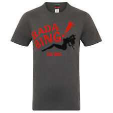 The Sopranos Official HBO Gift Mens Bada Bing T-Shirt