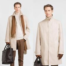 ZARA Man BNWT Authentic Beige Cotton Trench Coat Shirt Collar S M L 8288/301