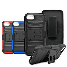 Holster Belt-clip PC Silicone Combo Shockproof Box Case Cover For IPhone 7 Plus