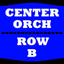 2 TIX BRIAN REGAN 1/29 ORCH CENTER ROW B PARAMOUNT THEATRE CEDAR RAPIDS