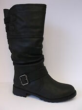 Ladies Black Spot On Calf Length Boots UK Sizes 3 - 8 F50321
