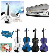 HOT Music 4/4 Full Size Natural Acoustic Wood Violin Fiddle +Case Bow +Bow+Rosin