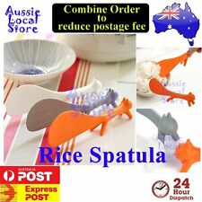 Rice Spatula Squirrel Paddle Scoop Spoon Ladle Kitchen Tool Stand Korean Style