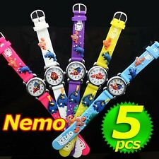 Wholesale 5PCS Wristwatches Children Quartz watch 3D silicone Cartoons watches