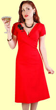 Stop Staring! Sexy Red 1940's Style Lana Dress.  New With Various Sizes