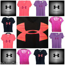 Under Armour Women's HeatGear Flyweight Short Sleeve Training Shirt S-L NWT