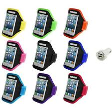 For iPod Touch 5th Gen 5G 5 Full Running Sports Gym Armband Case+Dual Charger