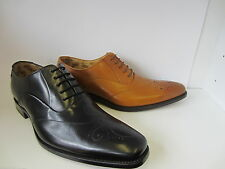 Mens Black/ Tan Lace Up Leather Loake Shoes Gunny