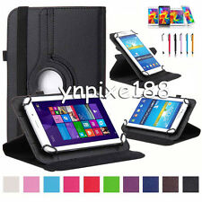 """New 360° Rotating Universal Leather Case Stand Cover For 7"""" 7 Inch Tablet PC MID"""