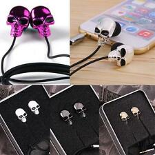 Cool Punk Metal Skull Shape Special In-Ear Headphones Earbuds Headset