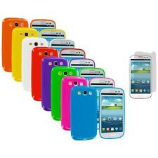 TPU Jelly Solid Cover Case+3X LCD Protector for Samsung Galaxy S III S3 i9300
