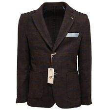 9121Q giacca uomo MYRON RAY marrone principe di galles jacket coat men