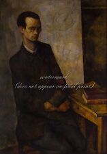 """DIEGO RIVERA Painting Poster or Canvas Print """"The Mathematician"""""""