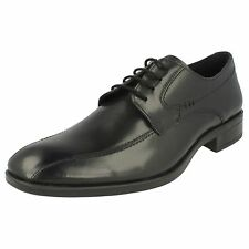 Mens Black Leather Lace Up Formal Smart Malvern Shoes UK Sizes 7 - 12 A2122