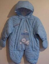 5-7lbs Tiny Baby Premature or Newborn Boys Snowsuit All In One Gift Wrapped