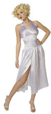 Quality Adult Ladies Marylin Monroe Fancy Dress Costume 10-12,Wig Choice!