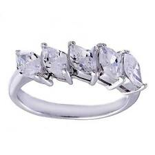 Marquise CZ Cubic Zirconia Sterling Silver Jewelry Women Wedding Engagement Ring