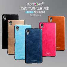 Slim Shockproof HQ Soft Leather Back Case Cover For Sony Xperia X Performance